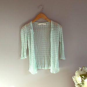 Zara mint green knit sweater